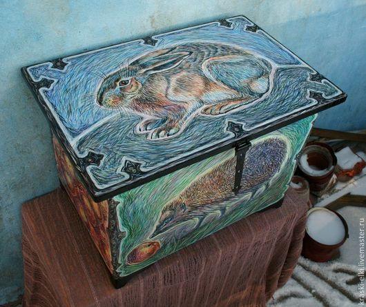 Мини-комоды ручной работы. Ярмарка Мастеров - ручная работа. Купить Сундук ручная роспись. Handmade. Сундук деревянный, прованс