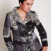 """Одежда handmade. Livemaster - original item Авторский Пиджак в стиле пэчворк """" Серый мрамор"""". Handmade."""