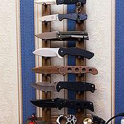 Сувениры и подарки handmade. Livemaster - original item Stand (stand) for knives from the array. Handmade.