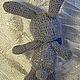 Игрушки животные, ручной работы. Заказать Заяц с бабочкой. Sonmagia Art (SonmArt). Ярмарка Мастеров. Заяц, серый, мохеровая пряжа