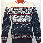 Одежда ручной работы. Ярмарка Мастеров - ручная работа Вязаный свитер Медведи с норвежским орнаментом. Handmade.