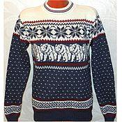 Одежда handmade. Livemaster - original item Sweater knitted Bears with a Norwegian ornament. Handmade.