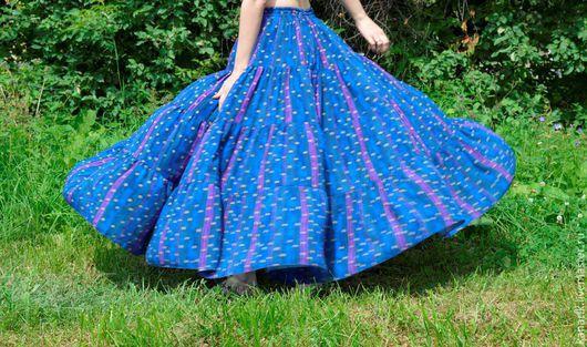 """Юбки ручной работы. Ярмарка Мастеров - ручная работа. Купить """"Царский синий """" юбка лето. Handmade. Тёмно-синий"""