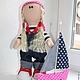"""Куклы тыквоголовки ручной работы. Ярмарка Мастеров - ручная работа. Купить Авторская кукла """"Маленькая морячка"""". Handmade."""