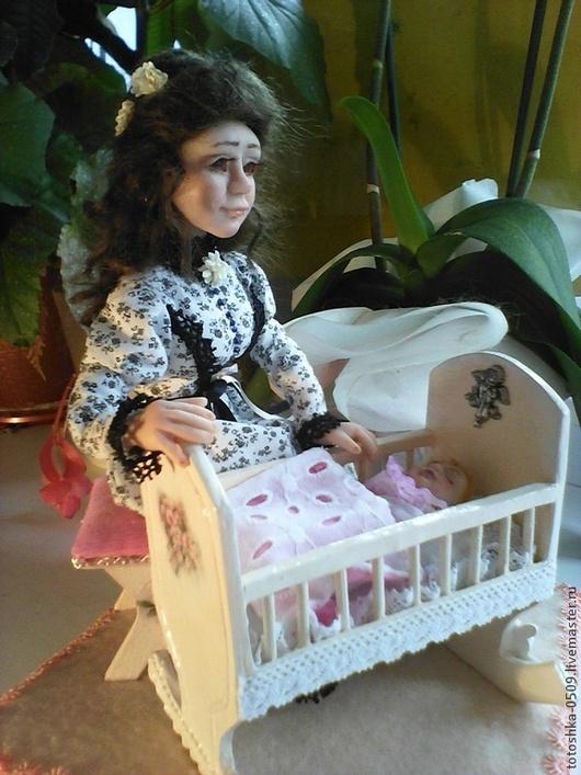Коллекционные куклы ручной работы. Ярмарка Мастеров - ручная работа. Купить Моя малышка. Handmade. Белый, мама и малыш, цветы