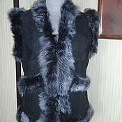 Одежда ручной работы. Ярмарка Мастеров - ручная работа Жилет меховой, женский. Handmade.