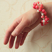 Украшения handmade. Livemaster - original item bracelet Rosy. Handmade.
