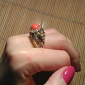 Vintage ring handmade. Livemaster - original item Ring Cellini vintage, rare. Handmade.