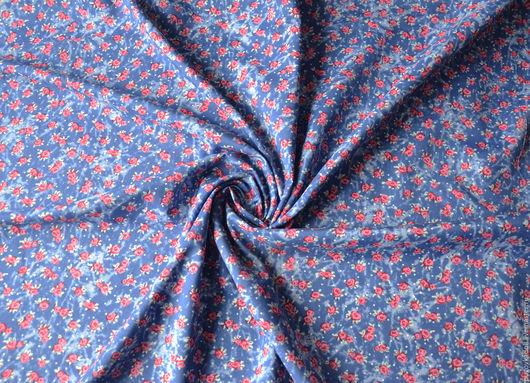 Шитье ручной работы. Ярмарка Мастеров - ручная работа. Купить Ткань цвет Джинс. Handmade. Синий, ткань для творчества