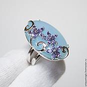 Украшения handmade. Livemaster - original item Ring with chalcedony and amethyst. 925 sterling silver.. Handmade.