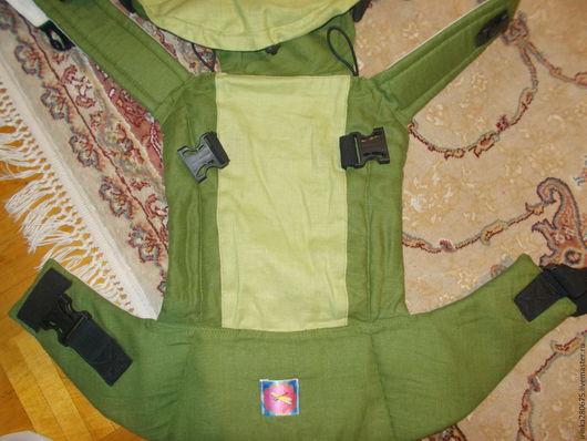 Слинги ручной работы. Ярмарка Мастеров - ручная работа. Купить Эргономичный рюкзак для переноски малышей. Handmade. Зеленый, эргономичный рюкзак