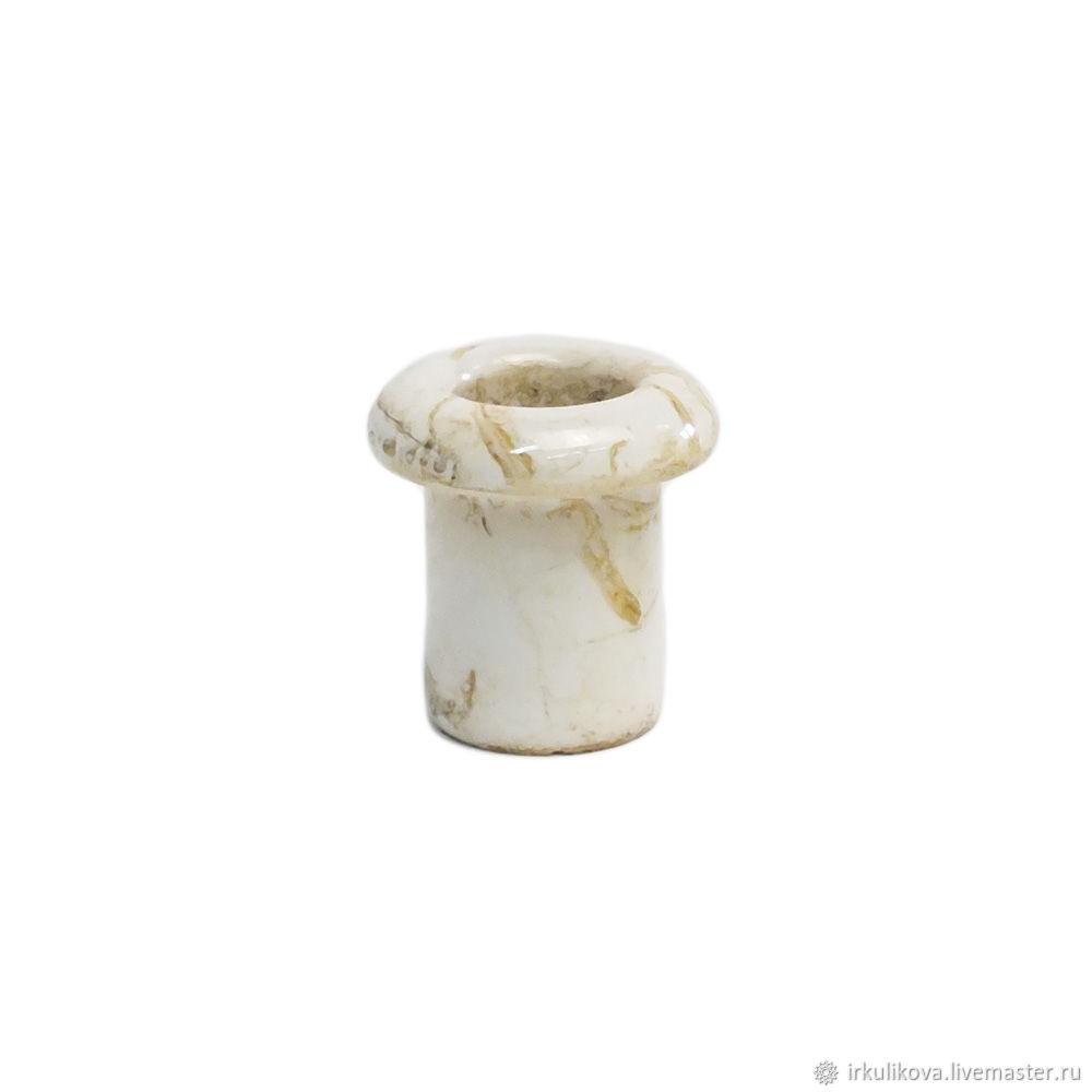 Втулка керамическая 25х25 мм, под мрамор, Дизайн, Москва,  Фото №1