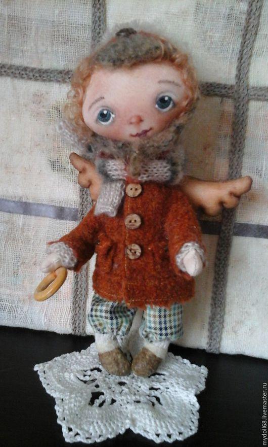 """Игрушки животные, ручной работы. Ярмарка Мастеров - ручная работа. Купить Интерьерная кукла """"Ангел-Витя"""". Handmade. Коричневый, ангел"""
