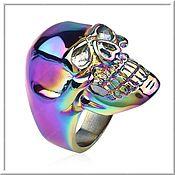Украшения handmade. Livemaster - original item Men`s Skull ring No. 6 steel. Handmade.