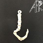 Сумки и аксессуары handmade. Livemaster - original item Keychain - Pendant DOTA2 bone hook Puja Pudge Hook bone carving. Handmade.
