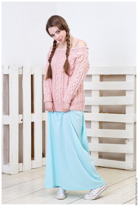 Меланжевый женский свитер