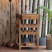 Для дома и интерьера ручной работы. Ярмарка Мастеров - ручная работа Винный столик из массива дуба или ясеня. Handmade.