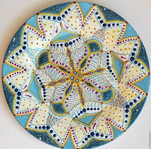 Декоративная посуда ручной работы. Ярмарка Мастеров - ручная работа. Купить Тарелка_Blue-lace. Handmade. Голубой, подарок подруге