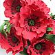 Цветы для интерьера Красные маки
