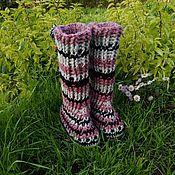Обувь ручной работы. Ярмарка Мастеров - ручная работа Домашние вязаные сапожки. Handmade.