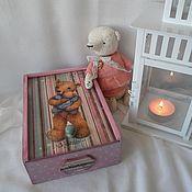 """Для дома и интерьера ручной работы. Ярмарка Мастеров - ручная работа Коробка """"Винтажный Мишка"""". Handmade."""