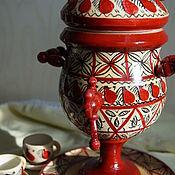 Русский стиль handmade. Livemaster - original item Samovar-box with tea set. Handmade.