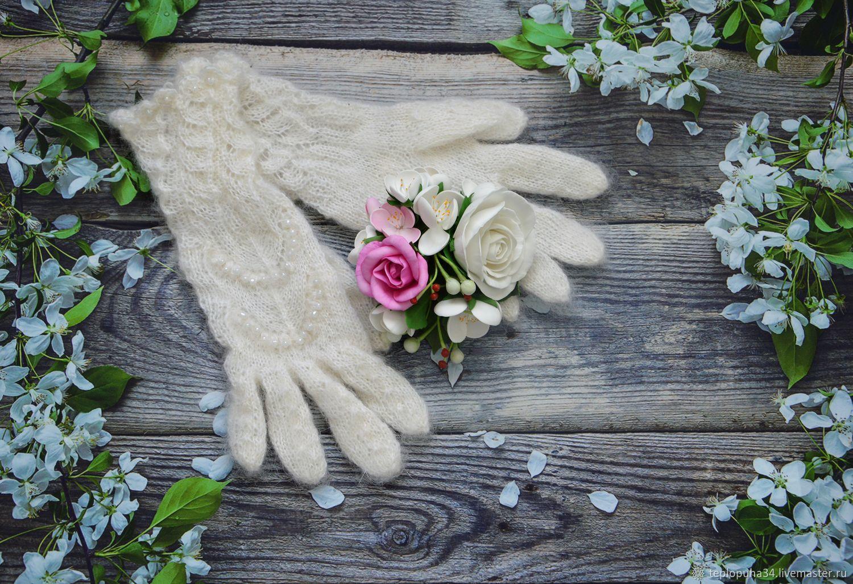 Gloves down 'snow Queen' openwork women, Gloves, Urjupinsk,  Фото №1