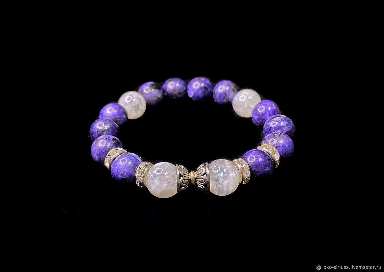 A bracelet for the harmonization of Sahasrara, Bead bracelet, Moscow,  Фото №1