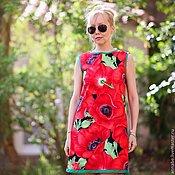 Одежда ручной работы. Ярмарка Мастеров - ручная работа Платье Красный мак Хлопок 100%. Handmade.