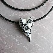 Украшения handmade. Livemaster - original item Heart pendant Black and White. Handmade.