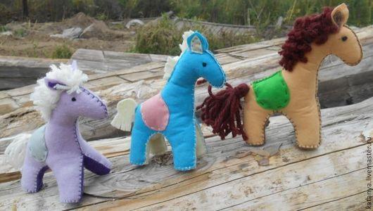 Игрушки животные, ручной работы. Ярмарка Мастеров - ручная работа. Купить Лошадка из фетра. Handmade. Сувениры и подарки, игрушка для детей
