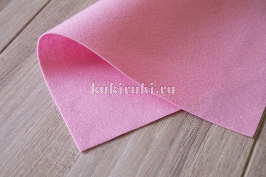 Валяние ручной работы. Ярмарка Мастеров - ручная работа. Купить Светло-розовый мягкий корейский фетр. Handmade. Фетр