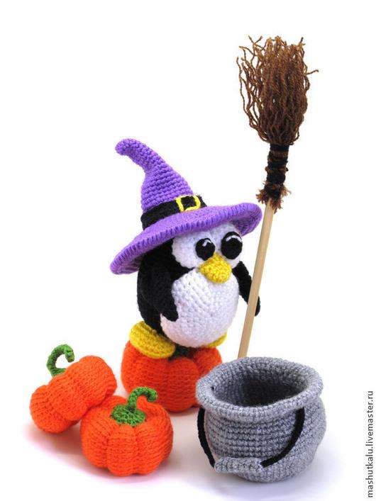 Игрушки животные, ручной работы. Ярмарка Мастеров - ручная работа. Купить Пингвин на Хэллоуин :) - вязаная игрушка. Handmade. Черный