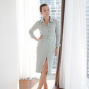 Одежда ручной работы. Ярмарка Мастеров - ручная работа Хлопковое платье-рубашка. Handmade.