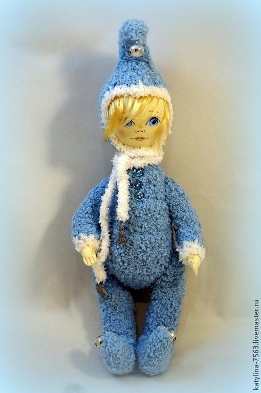 Мишки Тедди ручной работы. Ярмарка Мастеров - ручная работа. Купить Бубенчатый гном голубенький. Handmade. Голубой, гном