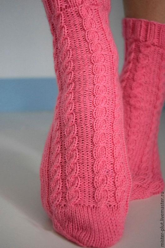 """Носки, Чулки ручной работы. Ярмарка Мастеров - ручная работа. Купить Носочки вязаные """"Розовый вечер"""". Handmade. Розовый"""