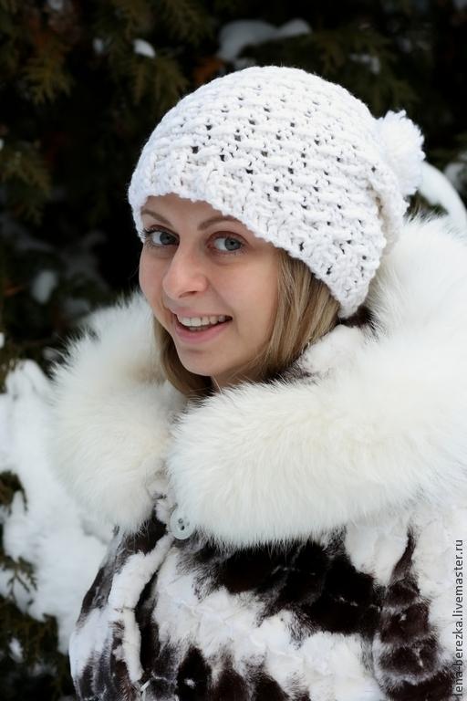 """Шапки ручной работы. Ярмарка Мастеров - ручная работа. Купить Шапка """"Снег"""". Handmade. Шапка, шапка зимняя, Новый Год"""