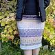 Юбки ручной работы. Ярмарка Мастеров - ручная работа. Купить Шерстяная юбка Сиреневая дымка. Handmade. Орнамент, юбка вязаная