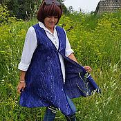 Одежда ручной работы. Ярмарка Мастеров - ручная работа Валяный жилет удлинённого силуэта. Handmade.
