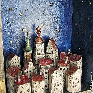 """Для дома и интерьера ручной работы. Ярмарка Мастеров - ручная работа Часы """"Ночь"""". Handmade."""