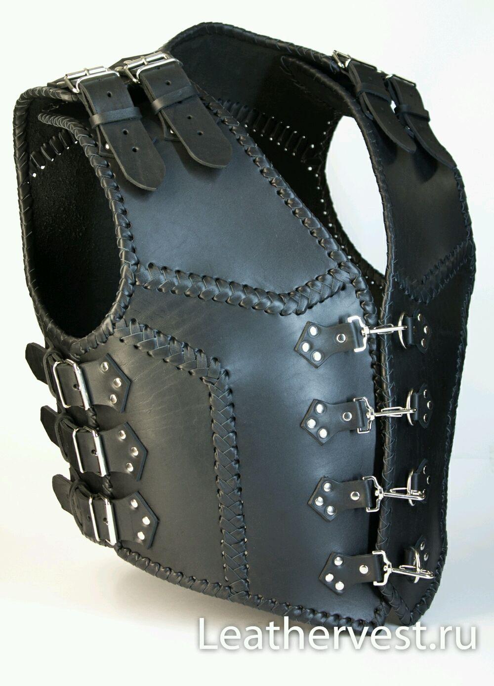 Motorcycle heavy leather vest, Vests, Glazov,  Фото №1