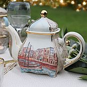Посуда handmade. Livemaster - original item The tea pot porcelain