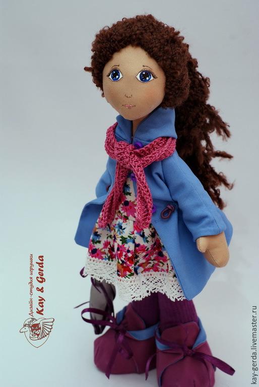 Коллекционные куклы ручной работы. Ярмарка Мастеров - ручная работа. Купить Кукла Жозефина. Handmade. Фиолетовый, подарок подруге, плащ