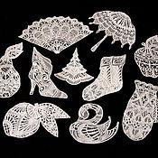 Подарки к праздникам handmade. Livemaster - original item Damskiy Kapriz of 10 subjects. A set of Christmas ornaments.. Handmade.