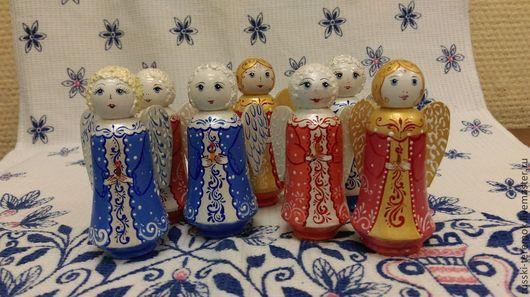 Сувениры ручной работы. Ярмарка Мастеров - ручная работа. Купить ангел расписной. Handmade. Ангел, сувениры из дерева, новогодние игрушки