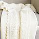 Пледы и одеяла ручной работы. Ярмарка Мастеров - ручная работа. Купить Вязаный детский плед с медвежонком. Handmade. Белый, пледик