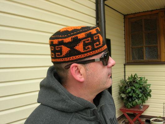 """Для мужчин, ручной работы. Ярмарка Мастеров - ручная работа. Купить Шапка """"Осень-12"""". Handmade. Комбинированный, шапка на осень"""