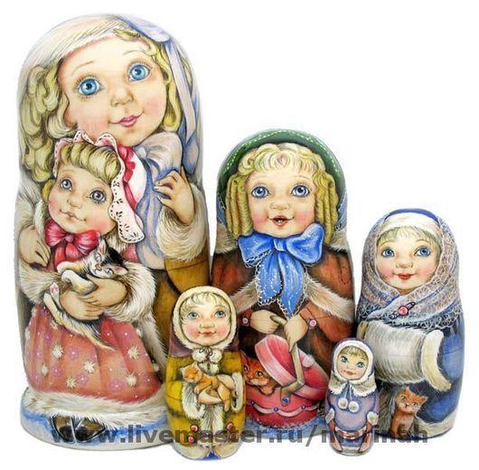 """Подарочные наборы ручной работы. Ярмарка Мастеров - ручная работа. Купить """"Питерские барышни"""". Handmade. Бежевый, историческое платье, девочки"""