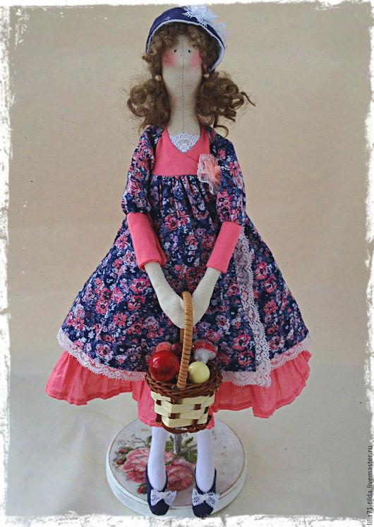 Куклы Тильды ручной работы. Ярмарка Мастеров - ручная работа. Купить Коллекционная кукла Тильда. Handmade. Коралловый, текстильная кукла