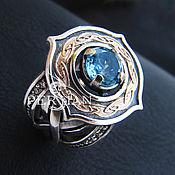 Украшения handmade. Livemaster - original item silver ring with blue Topaz. Handmade.